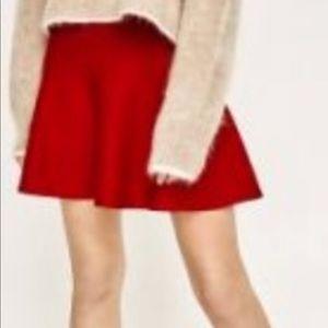 Zara RED flowy mini skirt